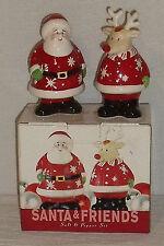 Santa & Friends Salt And Pepper Set Reindeer Bed Bath Beyond NEW In Box