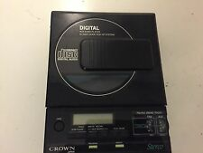 Vintage Crown Portable Compact Disc Player for parts or repair