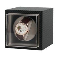 Single Watch Winder Wood Display Box Case Luxury Storage Automatic Rotate