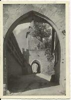 Ansichtskarte Rothenburg ob der Tauber - Inneres Kobolzellertor -schwarz/weiß