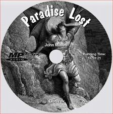 PARADISE LOST, John Milton, 2nd Edition, Unabridged AudioBook on 1 MP3 CD