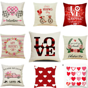 "18"" Valentine's Day Pillow Case Gnomes Peach Skin Throw Cushion Cover Sofa Decor"