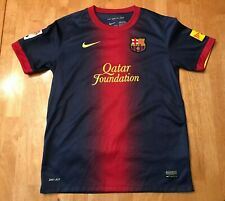 FC Barcelona Xavi Nike Dri Fit Authentic Jersey Youth Size Large