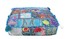 """22"""" Vintage Handmade Square Patchwork Cushion Cover Floor Decorative Indian"""
