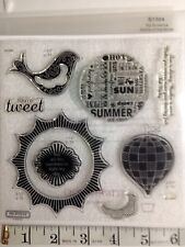Close To My Heart S1304 MY SUNSHINE Cricut Artiste Bird Sun Clear Stamp Set NIP