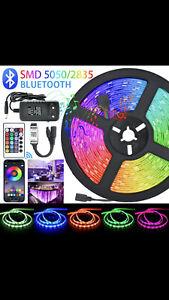 LED Strips Lights Bluetooth RGB 5050 SMD 2835 Flexible Waterproof Tape 5M-15M