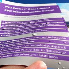 A1 PVC Poster / Plakat für Kundenstopper wetterfest