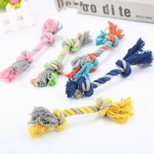 1 pcs Pets Dogs Puppy Cotton Teeth Chew Knot Rope Braided Bone Play 18CM Toy