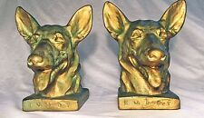 """Buddy"" ~1931 Grey Metal Bookends—First U.S. Seeing-Eye Dog—Nice Condition"