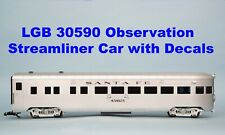 Lgb 30590 Observation Streamliner Car with Decals; Santa Fe, Union Pacific, Prr