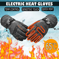 Cycling Motorcycle Heated Gloves Warm Electric Rechargeable Battery  √