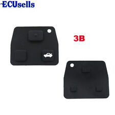 2/3 Buttons Car Remote Key Fob Black Rubber Pad Replacement For Toyota Avensis