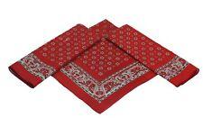 Betz Lot de 3 bandanas XL classiques à motif paisley  60 x 60 cm 100% coton coul