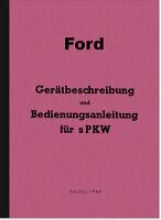 Ford V8 3,6 ltr. Bedienungsanleitung Betriebsanleitung Handbuch Wehrmacht WH