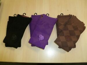 6 PAIRS LONG SOCKS ARGYLE ADULT 39-41 NEW EQUESTRIAN HORSE RIDING SHOWQUEST