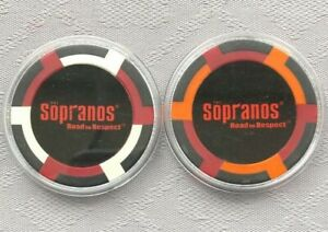 THE SOPRANOS, ROAD TO RESPECT - POKER/CASINO CHIP CARD GUARDS/PROTECTORS