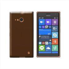 Cover per Nokia Lumia 730 Dual SIM, Lumia 735, in silicone TPU trasparente Nero