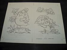 Snugglebumm Coloring Book Original Artwork RARE! Stan Goldberg! ART#0563