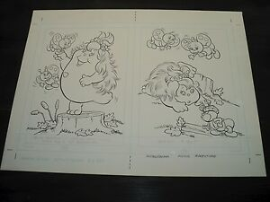 Snugglebumm Coloring Book Original Artwork RARE! Stan Goldberg! ART#0563