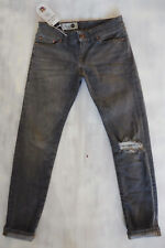 THE ITALIAN JOB Made in Italy Skinny Jeans grau Bio-Öko-gefärbt used W26/L28 NEU