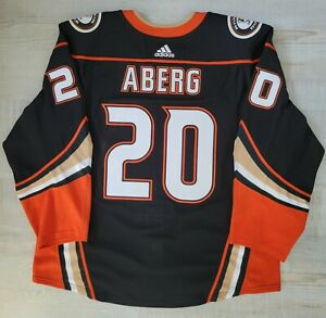 Pontus Aberg Anaheim Ducks Game Worn 2018-2019 Home Jersey