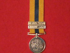 Miniature Queen Victoria Khedives Sudan Medal 1896 with 2 clasps and ribbon