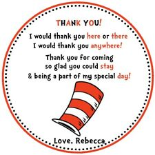 Dr Seuss Cat In The Hat - Party Favor Tags