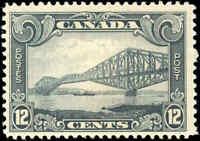 Mint H Canada 12c 1929 F+ Scott #156 King George V Scroll Stamp