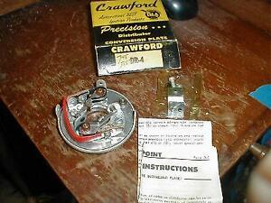 NOS 1949-56 DUAL POINT DIST BREAKER PLATE OLDSMOBILE PONTIAC NASH HUDSON 6 CYL