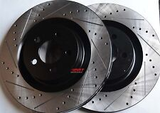 Fits Challenger Charger SRT-8 Drilled Slotted Brake Rotors Stop Tech Front Pair