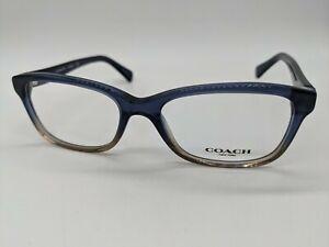 COACH NEW YORK HC6089 5474 Eyeglasses Frame 51mm Denim Blue Crystal GS24 W/Case