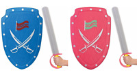 Knights Sword and Shield Set Kids Playset Medieval Role Play Fancy Dress