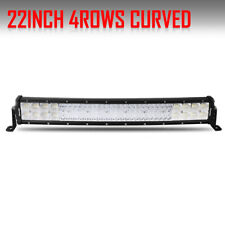 """23INCH Curved LED Light Bar Quad Row 2688W Combo Truck 4WD Driving Lamp 22"""" 24"""""""