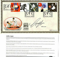 22 OCTOBER 2009 OLYMPIC GAMES JUDO SIGNED GABBY LOGAN BENHAM FIRST DAY COVER