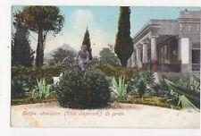 Corfu Achilleion Le Jardin Greece Vintage Postcard 194a