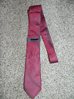 Vince Camuto Mens Tie Red in Color 100% Silk NWT