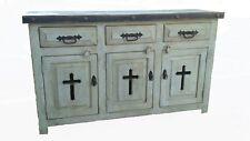 Rustic White Wash Templar Cross Bathroom Vanity