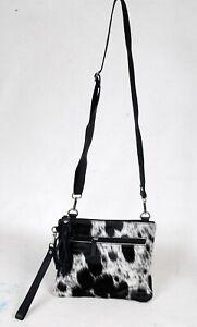 Real Cowhide Cross body Purse Handbag & Shoulder Bag Clutch Cow Leather SB-6970