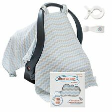 Baby Car Seat Covers - Super Soft Infant Carseat Canopy - Stroller Cover