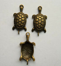 50pcs bronze plated tortoise charm pendant 31x15 mm