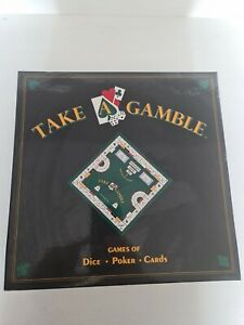 Vintage Take A Gamble Board Games Of Dice, Poker, Cards. New Unused