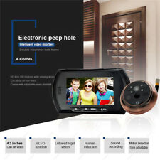 "4.3"" TFT GSM Digital Peephole Viewer Door Eye Doorbell IR Camera Motion Detect"