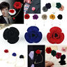 3 Styles Men's Lapel Flower Daisy Rose Handmade Boutonniere Stick Brooch Pins