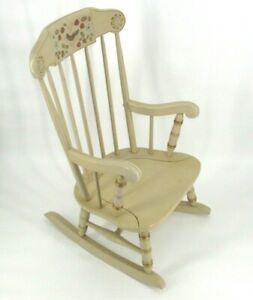 Vintage Ethan Allen Child's Rocker Rocking Chair Children #14-9705 White 1985