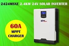 (MSXE) solaire onduleur 3kva 2400w MPPT  24V chargeur de batterie 60A 1500W LCD