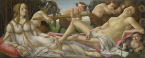 Sandro Botticelli Venus and Mars Giclee Canvas Print Paintings Poster