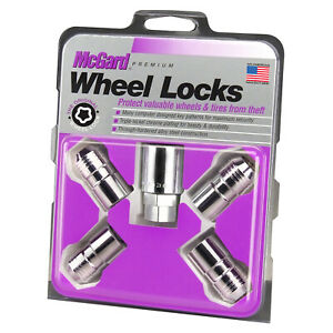 McGard Wheel Lock Nut Set - 4pk. (Cone Seat) M14X1.5 / 21mm & 22mm Dual Hex /