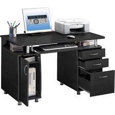 Computer Super Storage Workstation Desk File Drawer CPU Cabinet Keyboard Tray