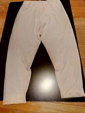 Cuddl Duds Womens Pearl White Silky Cotton Nylon, Long John Pj Bottoms Pants 1X