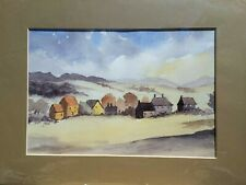 Welsh Village Original Watercolour Painting by Rev. Cyril Lucraft July '05